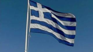 Hellenic Flag waving-v2. HD video