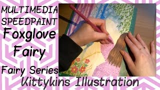 COPIC Speedpaint: Floral Fairy Series - Foxgloves