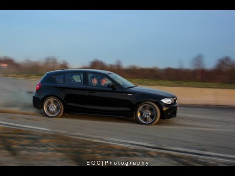 BMW E87 118D Long drift in the rain - CRIZVIDZ