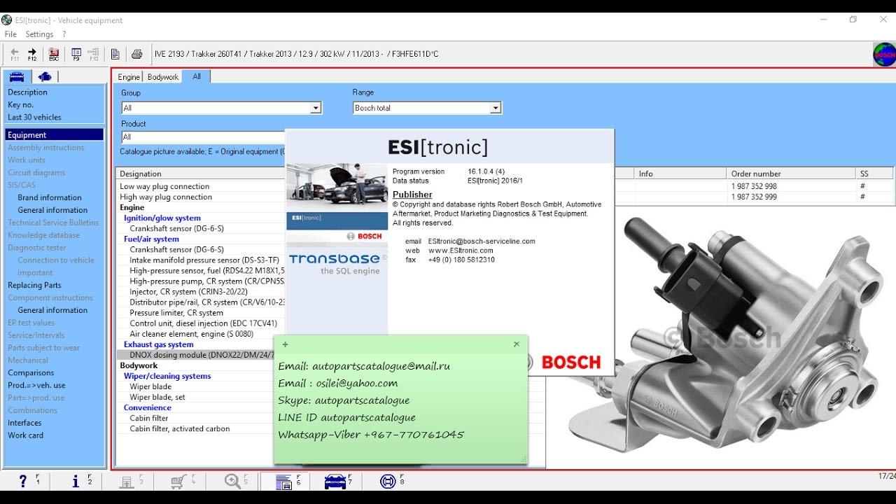 Free Download Wiring Diagrams Bosch Esi Tronic 2016 Demo Youtube