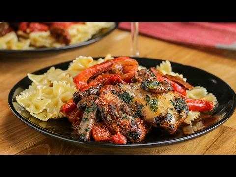 Chicken with Tomato Wine Sauce (Chicken Cacciatore)