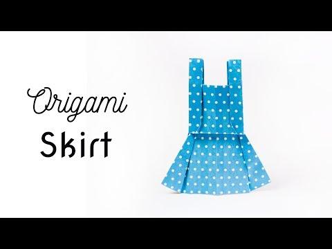 DIY: Origami Skirt | Easy origami