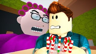 WHAT'S HER SECRET? ESCAPING GRANDMA'S HOUSE IN ROBLOX!