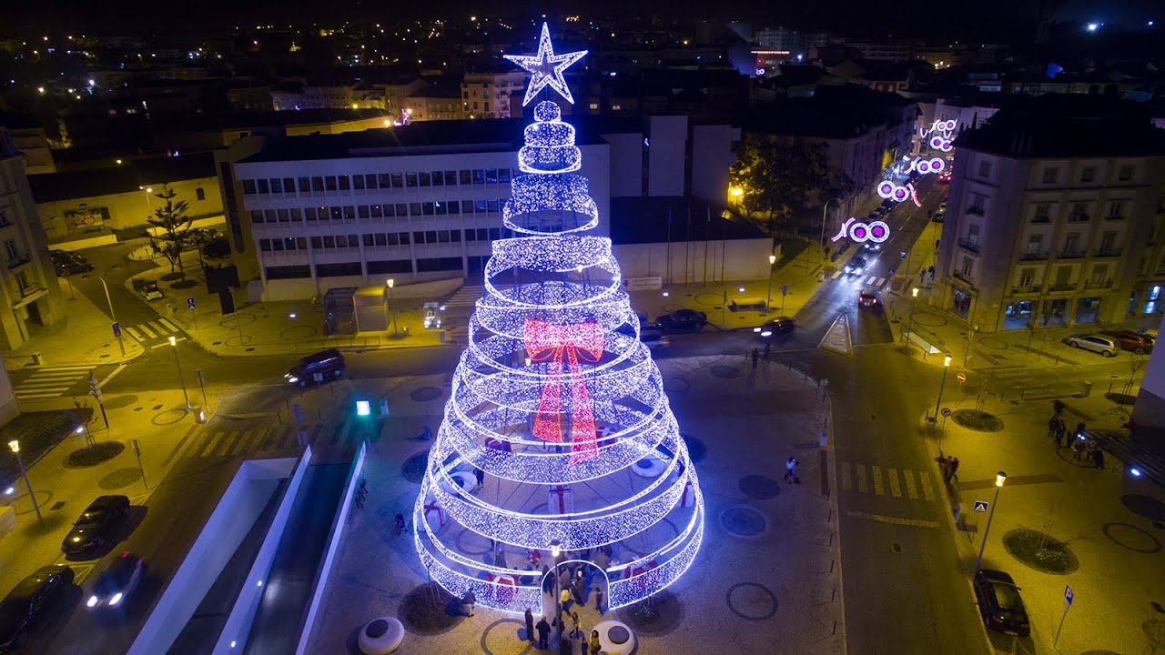 one of the largest christmas tree aerial view at night 4k ultra hd youtube - Largest Christmas Tree