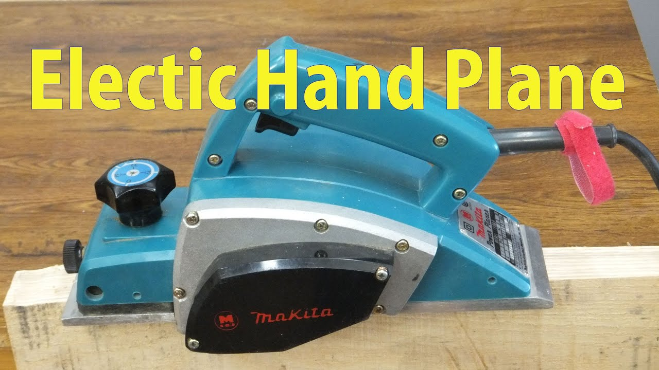Using an Electric Hand Plane - Beginners #24 - YouTube