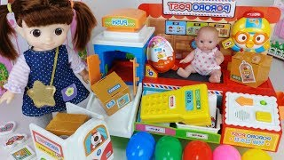 Baby doll mart surprise delivery toys house play story - ToyMong TV 토이몽