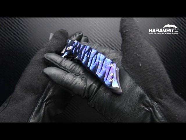 Phantom Steelworks Delirium Timascus Folder by karambit.com
