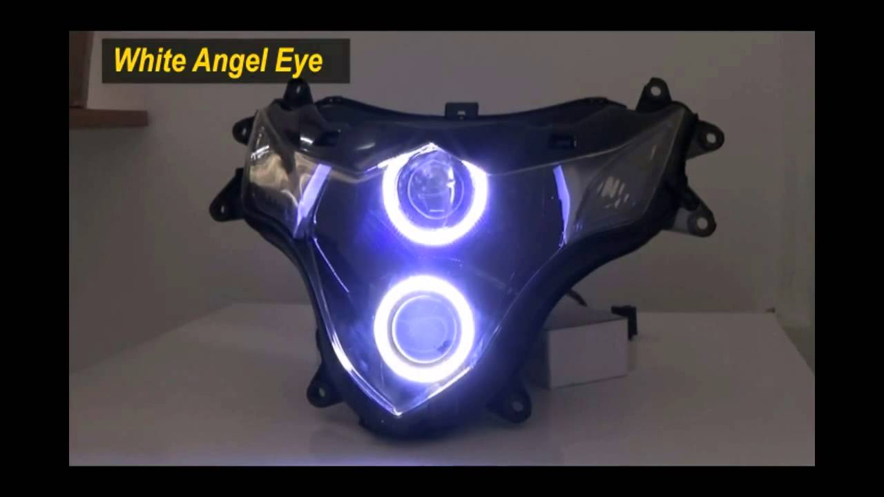 2009 2015 Gsxr 1000 Projector Headlight With Led Angel