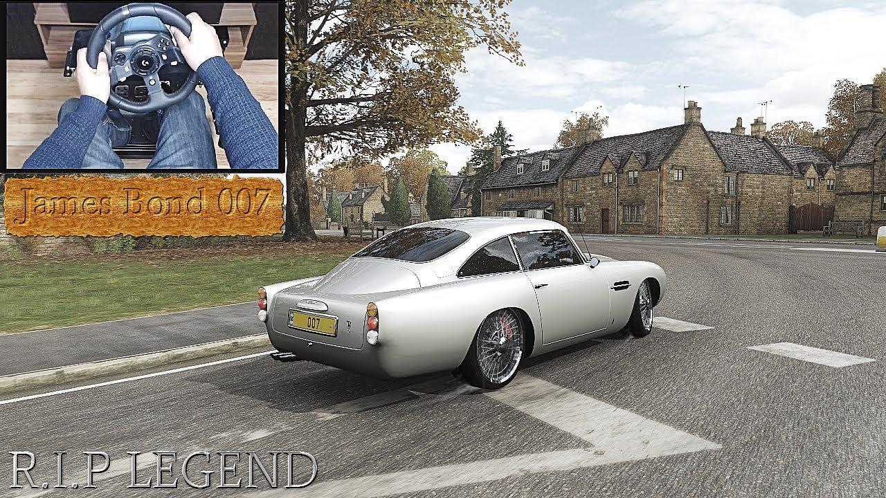 Tribute To Aston Martin Db5 James Bond 007 Sean Connery Forza Horizon 4 Logitech G920 Gameplay Youtube