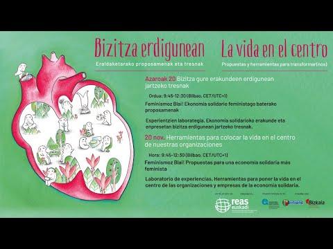 JORNADA: LA VIDA EN EL CENTRO Propuestas y herramientas para transformar(nos) 19-20 de noviembre