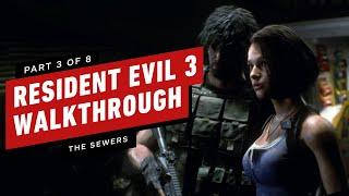Resident Evil 3 Walkthrough - The Sewers (Part 3)