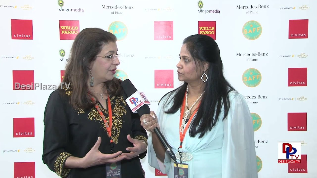 Artist Siona Benjamin speaking to Desiplaza TV at South Asian Film Festival