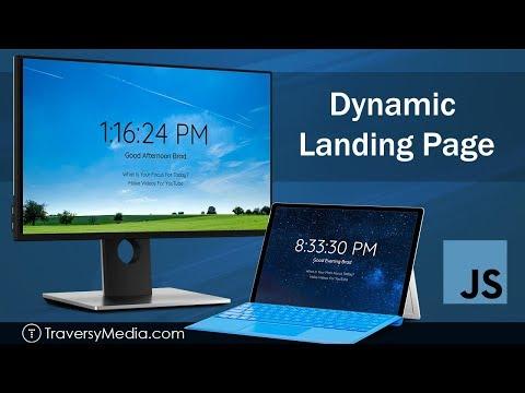 Dynamic Landing Page   JavaScript