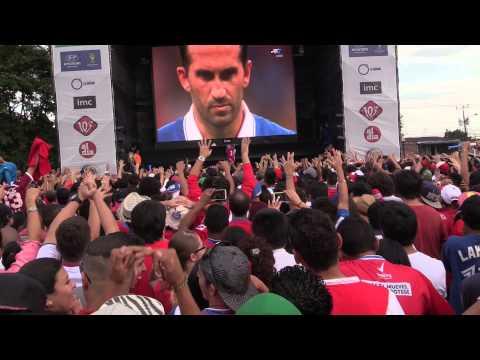 Fan réactions in Costa Rica - Mundial 2014