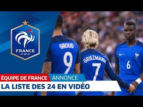 Équipe de France, La liste des 24 joueurs en vidéo I FFF 2018