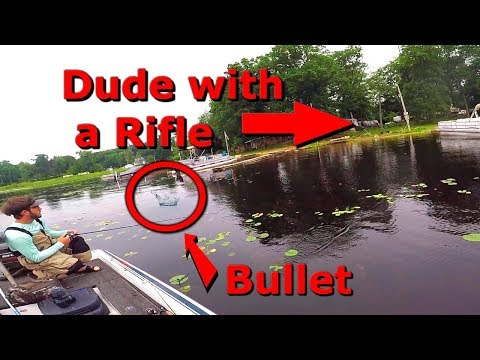 Almost Shot While Fishing By Incompetent Home Owners Dock (What Was He Thinking)