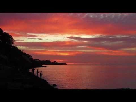 Half Moon Bay, Red Bluff Cliffs, and Frankston Beach awesome sunset HD
