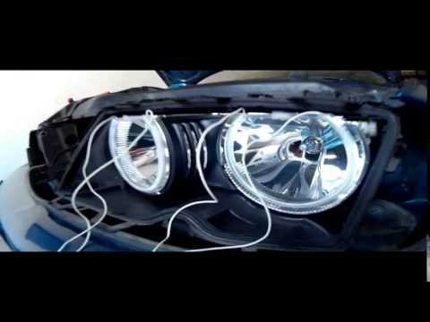 install angel eyes bmw e46 youtube. Black Bedroom Furniture Sets. Home Design Ideas