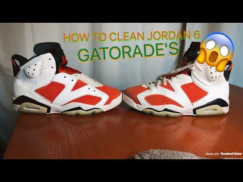 Jordan 6 Gatorade RESTORATION!!!(Cleaning) Tutorial