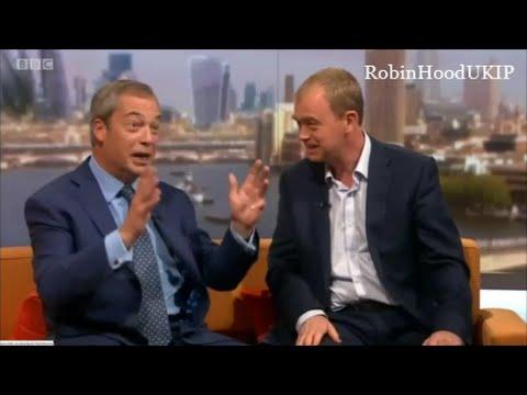 Nigel Farage destroys Tim Farron