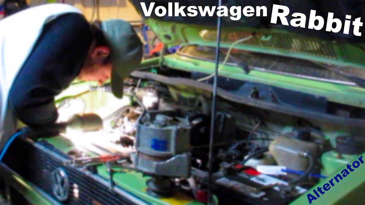 the rabbit lives on! volkswagen rabbit alternator replacement