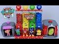 Brinquedo M&M's Dispenser com Patrulha Canina e Casinha Surpresa de Super Cachorrinhos