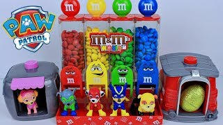 Brinquedo M&M\'s Dispenser com Patrulha Canina e Casinha Surpresa de Super Cachorrinhos