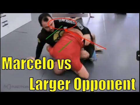Conceptual BJJ Narrated - Marcelo Garcia vs Bigger Opponent