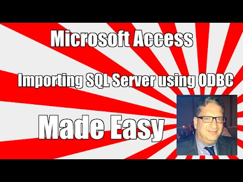 access-importing-from-sql-server-odbc---access-2003,-access-2010,-access-2013-access-2016-tutorial