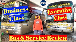 Faisal Movers Business Class and Executive Class Bus Service Review