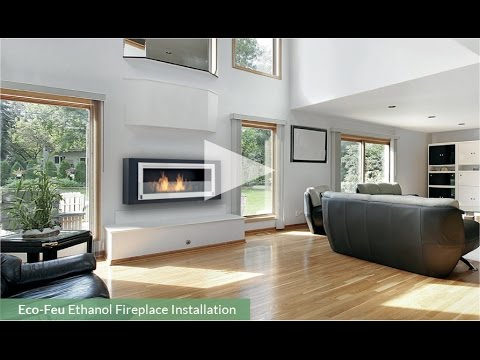eco feu installation foyer l 39 thanol mural youtube. Black Bedroom Furniture Sets. Home Design Ideas
