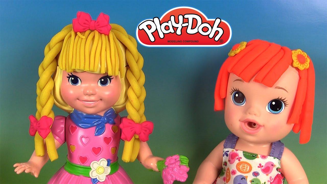Play Doh Hair Do Dolly Avec Baby Alive P 226 Te 224 Modeler