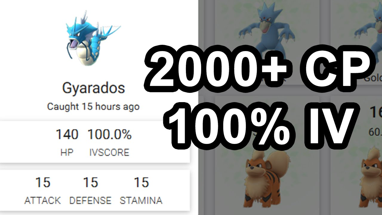 Gyarados max CP for all levels - Pokemon Go