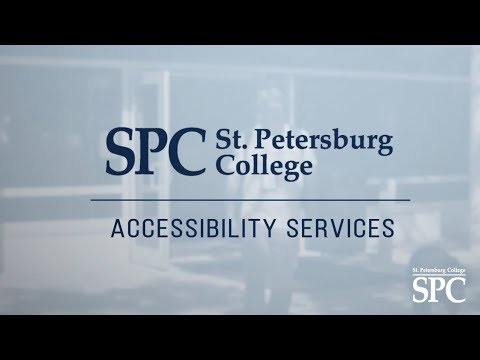 Accessibility Services At St. Petersburg College