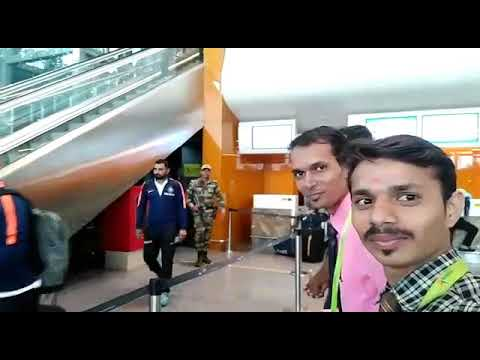 Cricketers in Bangalore airport 29th September