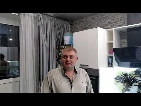 Двухуровневый Натяжной потолок на кухне. Город Икша.
