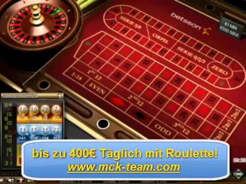 Video Roulette simulator martingale