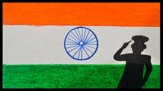 Easy Oil Pastel Drawing For Independence Day || Independence Day Painting || Independence Day