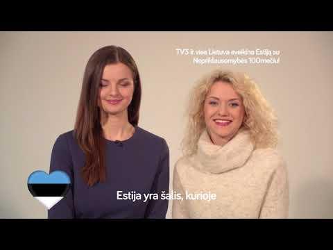 TV3 ir Lietuva sveikina Estiją su Nepriklausomybės 100mečiu!