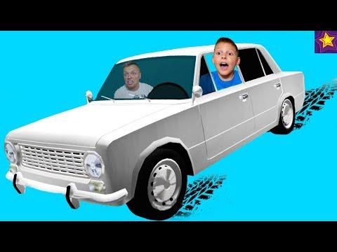 РАЗБИЛИ ЖИГУЛИ Копейку в ХЛАМ!!! Доедет ли ИГОРЮША до ФИНИША на ВАЗ 2101? Видео для детей