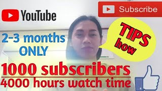 How to get 1000subscribers and 4000hrs watch time (Techniques&Tips) | Gheorghina Pontino