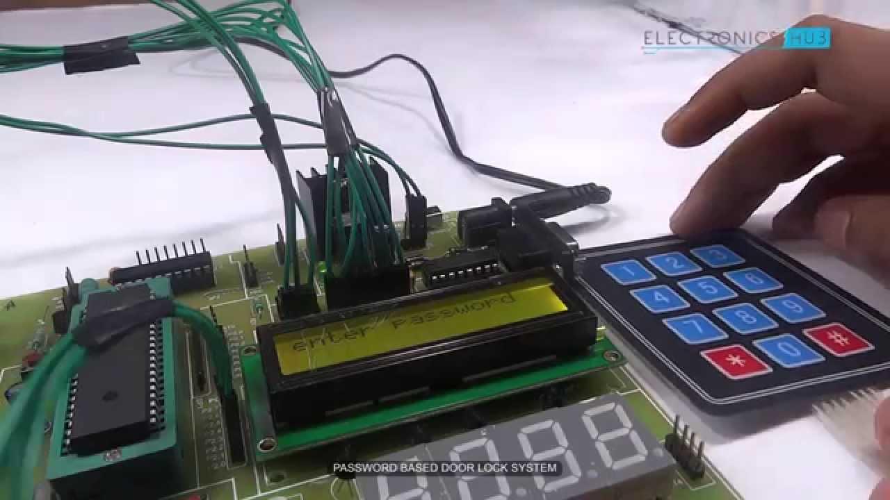 Home Security System With Gsm Using 8051 Microcontroller Ultrasonic Rangefinder Circuit Diagram Password Based Door Lock