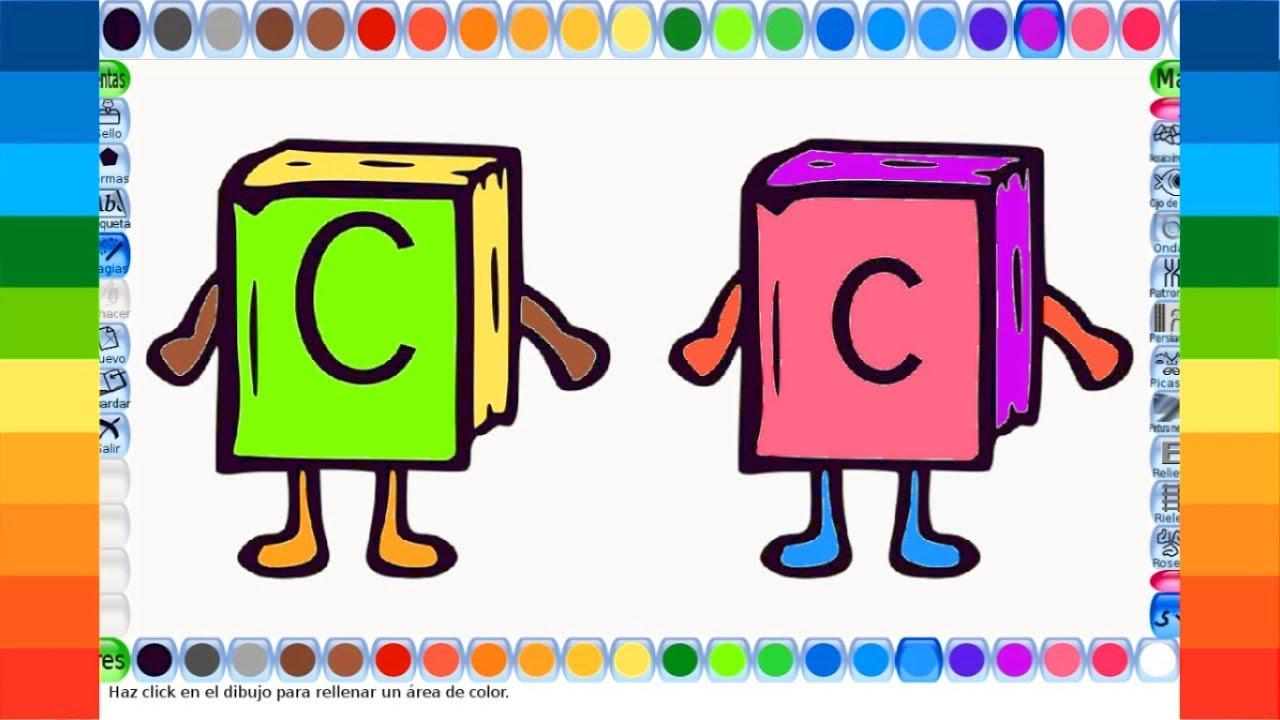 Colorear Dibujos Para Ninos Con Letras Videos Infantiles Y Juegos