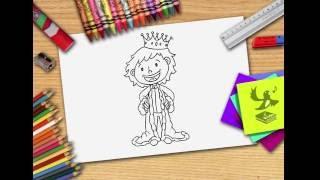 Wie zeichnet man eine Prinze - König zeichnen lernen