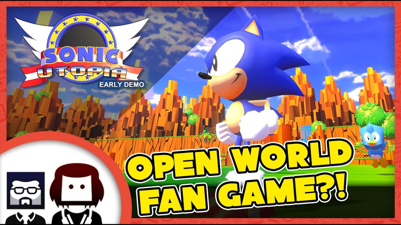 Sonic Utopia Gameplay Free Roam Footage Green Hill Zone Open World Sonic The Hedgehog Fan Game Youtube