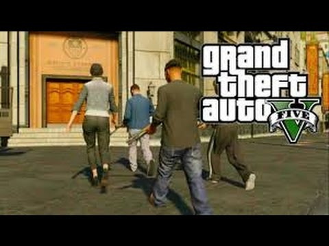 GTA V 5 para X BOX 360 1º Missão GMT Games  Matheus