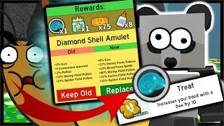 DIAMOND SHELL AMULET & BUYING *2 MILLION* TREATS! | Roblox Bee Swarm Simulator