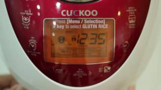 CUCKOO - PRESSURE RICE COOKER (CRP-N0681F) - WHITE RICE RECIPE BY HEAP SENG GROUP