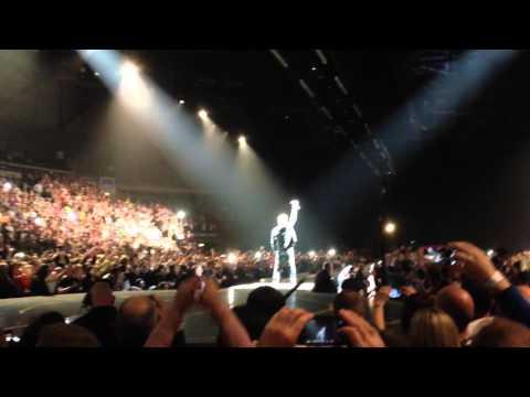 U2 Bono walking to stage at SSE Arena Belfast Northern Ireland 2015
