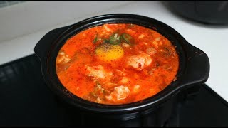 KOREAN SPICY SOFT TOFU STEW 순두부찌개 SUNDUBU-JJIGAE